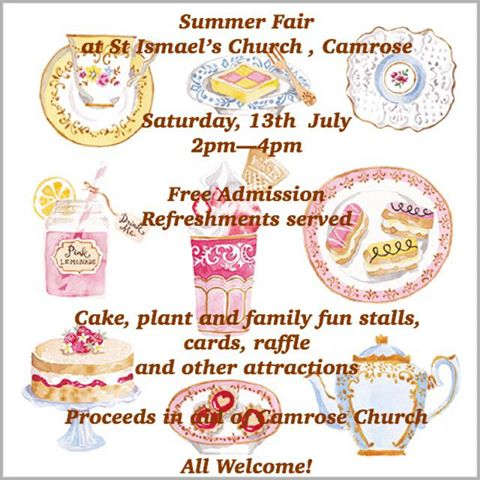 13th July - Summer Fair, St Ismael's Church, Camrose